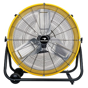 Tornado 24 Inch Industrial Grade UL Safety Listed High Velocity Air Movement Heavy Duty Drum Fan